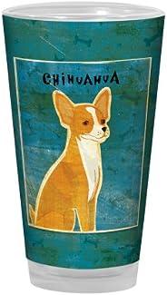 Tree-Free Greetings PG03053 John W. Golden Artful Alehouse Pint Glass, 16-Ounce, Red Chihuahua