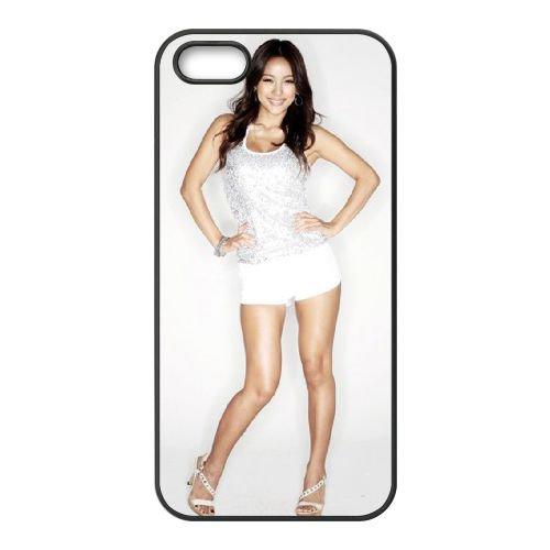 Lee Hyori coque iPhone 5 5S cellulaire cas coque de téléphone cas téléphone cellulaire noir couvercle EOKXLLNCD25479