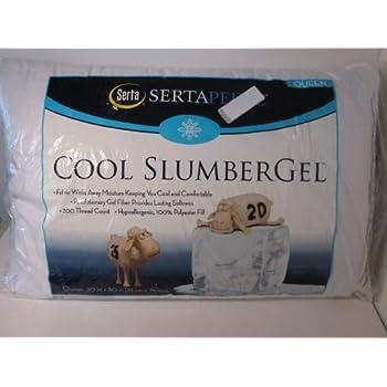 Amazon Com Sertapedic Cool Slumber Gel Pillow Set Of 2
