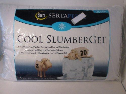 Sertapedic Cool Slumber Gel Pillow, Set of 2 (QUEEN 20 x 30)