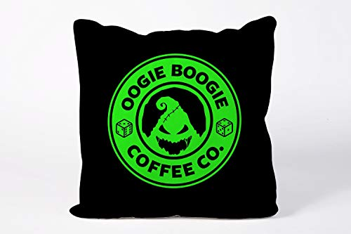 King65irginia Oogie Boogie Fairy Tale Cushion Cover Fairy Tale Pillowcase Halloween Quote Pillowcase Home Decor Gifts Christmas Nightmare Before Christmas