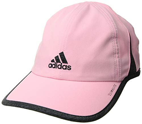 - adidas Women's Superlite Relaxed Adjustable Performance Cap, True Pink/Dark Grey Heather, One Size