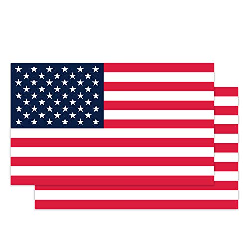 Classic Biker Gear American Flag Hard Hat Stickers - 1.8