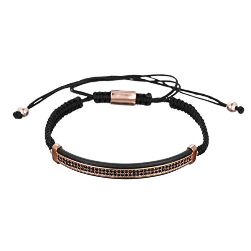 HUSHOUZHUO Luxury Polygon Ball Crown Charm Copper Bead Macrame Handmade Men Bracelets Set Bracelets & Bangles for Men Jewelry