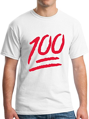 Adult Machine T-shirt (100 Percent Red Emoji Texting Logo Adult T-Shirt M White)