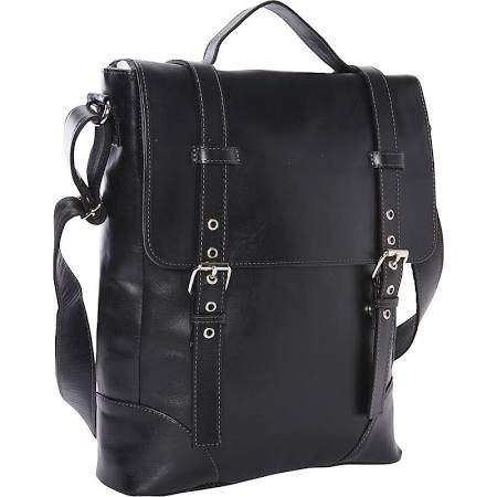 Deluxe Vertical Leather Case (Piel Leather Deluxe Vertical Briefcase Blk, Black)
