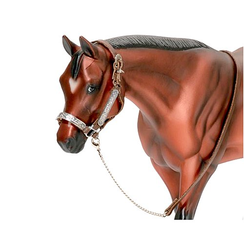 Traditional Lead - Breyer Traditional Western Stock Show Halter w/ Lead (1:9 Scale)