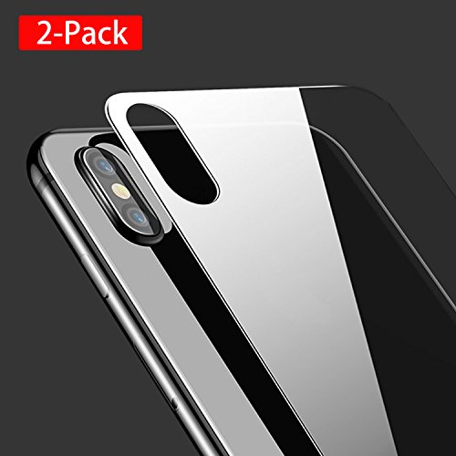 iPhone X Back Screen Protector (2 Pack), SanDiego Homelife iPhone X Tempered Glass Screen Protectors Rear Temper Glass Protector Screen Film Anti Fingerprint for iPhoneX /10 5.8 inch