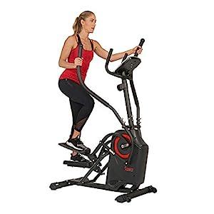 Sunny Health & Fitness Premium Cardio Climber Stepping Elliptical Machine – SF-E3919, Black