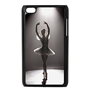 HQYDIY Customised ballet Plastic Case, Personalised ballet Hard Cell Phone Case for Ipod Touch 4