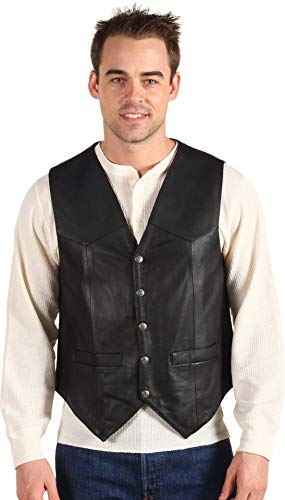 (Scully Men's Leather Vest Black XX-Large)