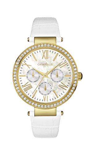 Caravelle New York Women's 44N104 Crystal Strap Bracelet