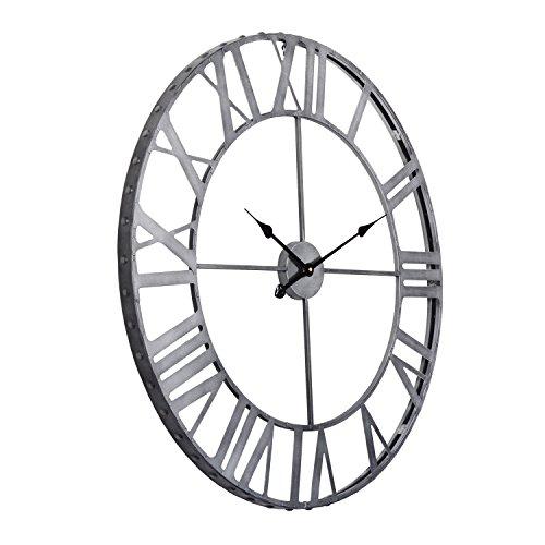 Cheap Utopia Alley Roman Rivet Edge Industrial Wall Clock, Pewter