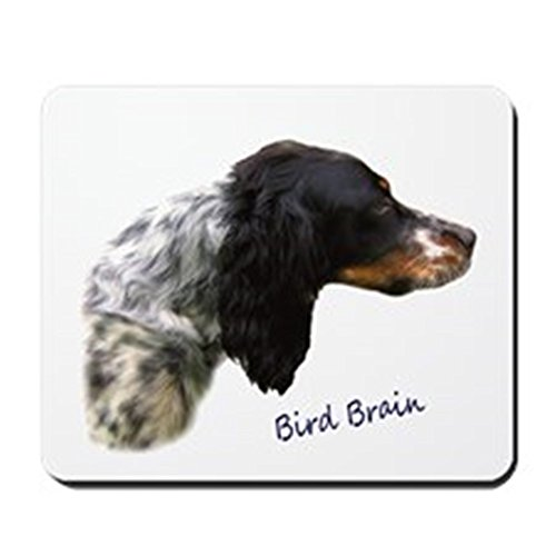 CafePress - Llewellin Setter Bird Brain Mousepad - Non-slip Rubber Mousepad, Gaming Mouse Pad Llewellin Setters