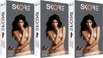Skore Chocolate Flavoured Condom(set of 6 60 Condoms)