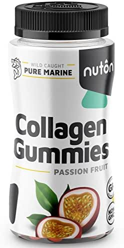 Collagen Gummies for Hair, Skin and Nails, 90ct Bottle   Hydrolyzed Collagen Peptides in Yummy, Low Sugar Gummy Format from Marine Sources