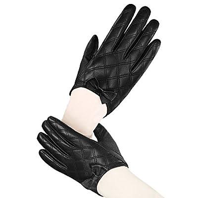 LETHMIK Lady's Stylish Driving Short Gloves Backless Genuine Leather Gloves