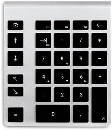 NewerTech NWTKPA28BTBEU Teclado numérico - teclados numéricos (Bluetooth, Aluminio, Negro, Batería, Aluminio, Universal, AAA)