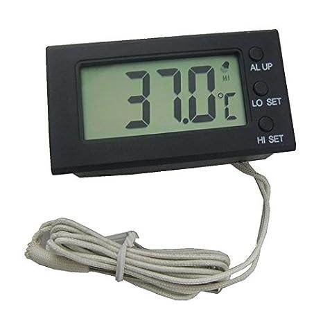 hankcares Hi-Low alarma integrada termómetro para termómetro ...