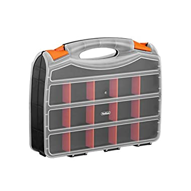 "VonHaus 15"" Double Sided Storage Box Organizer with 32 Compartments"