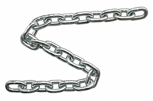 90 ft. Grade 30 Straight Chain, 5/16'' Trade Size, 1900 lb. Working Load Limit, For Lifting: No by Dayton