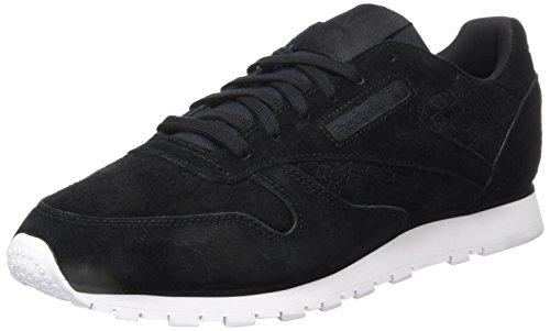Woven Sneaker Schwarz Leather REEBOK Blackwhite EMB Classic Damen EwgxqR