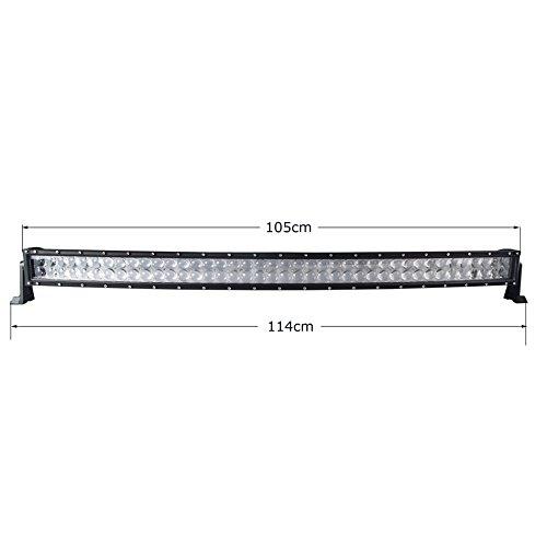 5D 106,7/cm 400/W Curved LED work Light bar per trattore barca fuoristrada 4/WD 4/x 4/camion SUV ATV Combo interruttore cablaggio