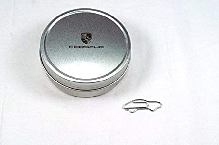 Genuine Porsche Paper Clips Paperclips and Storage Tin Set of 100