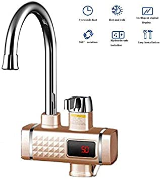 Elektrischer Wasserhahn Durchlauferhitzer Elektrisch Mit Led Anzeige Mischgerat Fur Elektrische Heizung Ipx4 3000 W Amazon De Baumarkt