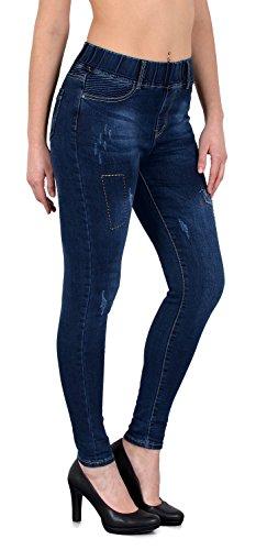 by-tex ESRA Jean Femme Skinny avec Ceinture lastique Skinny Jeggings pour Femmes Pantalon Femme J291 J256