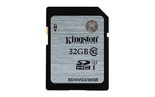 Kingston Digital SDHC Class 10 UHS-I 45R/10W Flash Memory Card (SD10VG2/32GB) ()