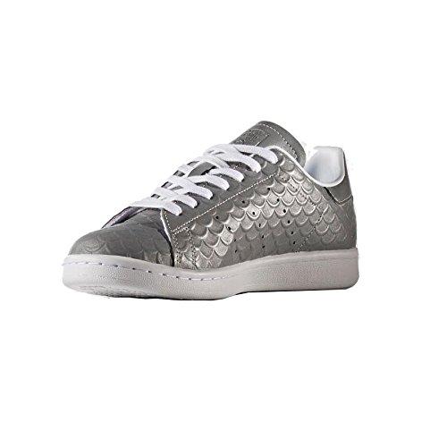Adidas Originaux Stan Smith Femmes Formateurs Sneakers (uk 7 Us 8.5 Eu 40 2/3, Argent Métallique Blanc Bb5159)