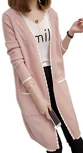 [Nana_Collection(ナナコレクション)] 春 秋 カーディガン ボタンなし 上品 羽織 ニット 女性