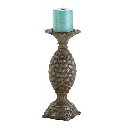 OKSLO Pillar Candle Holder, Rustic Polyresin Large Pillar Candle Holders Standing