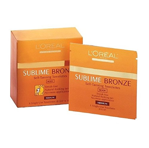 LOreal SUBLIME Self Tanning Towelettes Natural product image