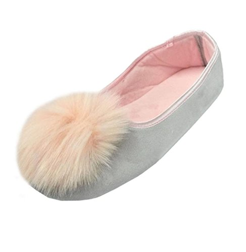 Sagton Femmes Maison Pantoufles Chaudes Tout Compris Femmes Enceintes Chaussures Chaussures De Yoga Gris
