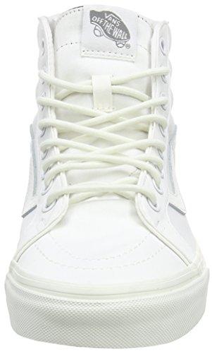 Vans Sk8-hi Reedición Mono Textil Y Cuero Zapatillas Mid-top Canvas Skate Blanc De Blanc