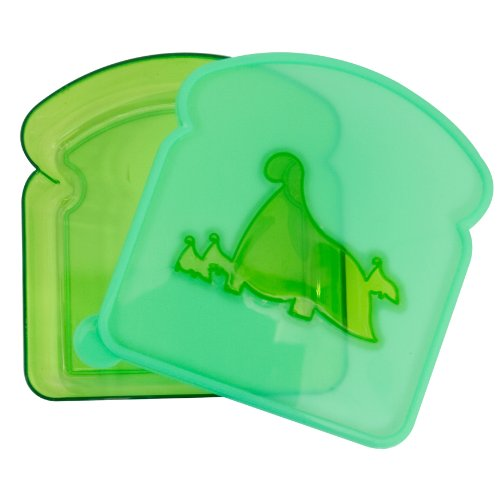 Evriholder LB-D Sandwich and Lunch Box, Green -