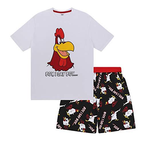 Looney Tunes Foghorn Leghorn Official Gift Mens Short Pajamas Medium -