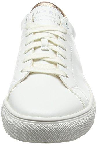 Esprit Blanc Basses Femme white Sandrine 100 Sneakers rHqxTrO