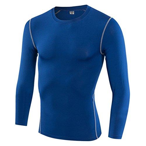 精通したシェル特徴づけるSanke メンズ 長袖 コンプレッション スポーツ シャツ UVカット 吸汗速乾 コンプレッションウェア ツーリング バイクウエア アンダーウェア ゴルフ ジョギング トレーニング 男性