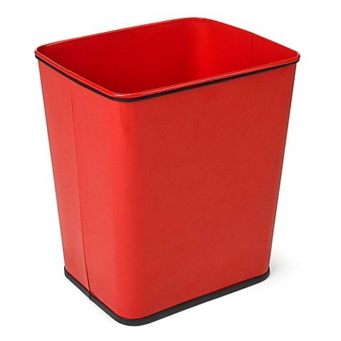 er-Counter Trash Can in Red ()