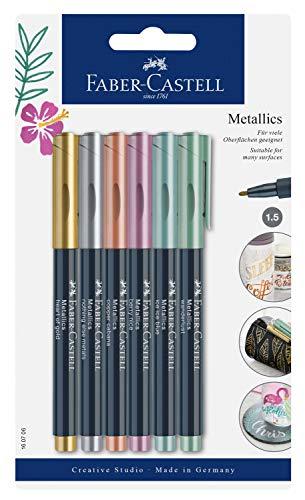 Faber-Castell Metallic Marker Blistercard - Full Range of 6 Colours