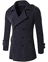 """<span class=""""a-offscreen"""">[Sponsored]</span>Also Easy Men's Spring Autumn Overcoat for man wool & blends double breasted peacoat trench coat men Slim fit,..."""