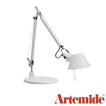 Micro De Tolomeo Table Blanc Brillant Lampe Led Design Artemide qS3ALc54Rj
