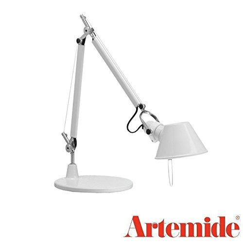 (Artemide TOLOMEO Micro White Table Lamp LED Bulb Included Design Italy 1987)