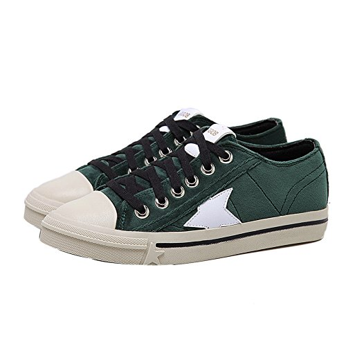 1TO9 Backpacking Green Walking Shoes Lace Womens Microfiber Microfiber Up qR7vq1