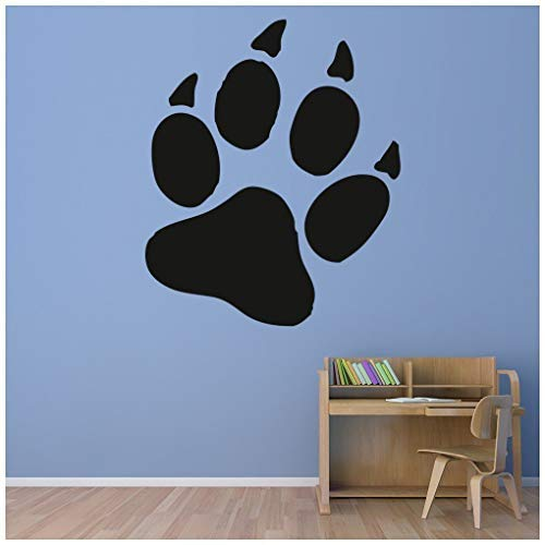 banytree Bear Paw Print Wall Sticker Wild Animals Wall Decal Kids Bedroom Home Decor Large ()