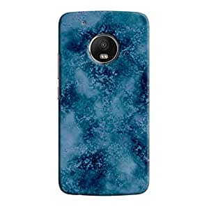 Cover It Up - Blue Turquoise Granite Moto G5