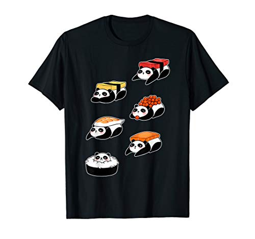 Panda Bear Sushi Sashimi Japanese Food Funny